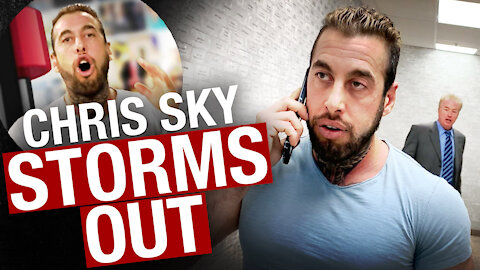 Chris Sky storms out of interview with David Menzies