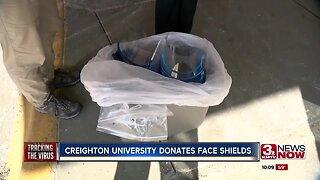 Creighton University donates face shields