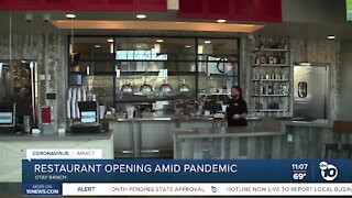 Otay Ranch restaurant opening amid pandemic
