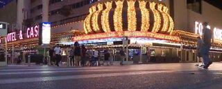 Casinos open in downtown Las Vegas