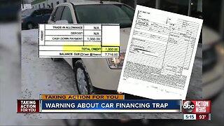 Warning about car financing trap