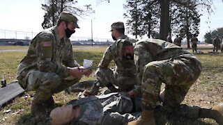 Civil Affairs Soldiers Conduct CLS Training B-roll