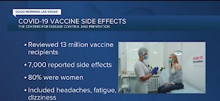 More women experiencing COVID-19 vaccine side effects