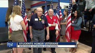 High school students honor veterans