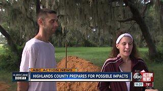 Highlands County prepares for potential impact of Hurricane Dorian