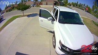 CAUGHT ON VIDEO: 10YO scares off burglar