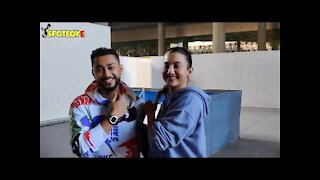 Lovebirds Gauahar Khan And Her 'Humsafar' Zaid Darbar back to Mumbai after a mini holiday in Dubai