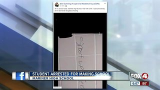 Mariner High student arrested for school threat
