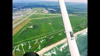Landing Runway 24 Nantucket Island