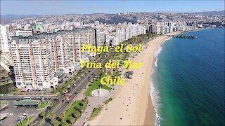 Del Sol Beach at Vina del Mar in Santiago, Chile