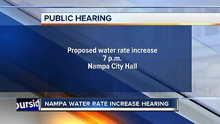 Public hearing on water rate increases in Nampa happening Monday