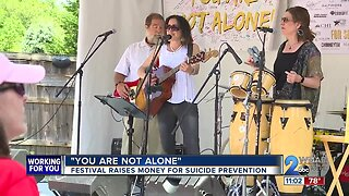 'You are not alone': Music festival raises money for suicide prevention