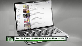 Back to school shopping with subscription services