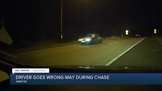 Driver goes wrong way during chase on San Diego freeway