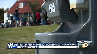 Busker Fest goers not too concerned about Coronavirus