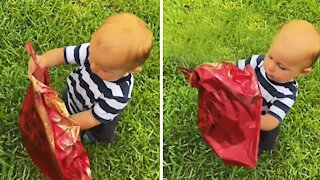 Baby finds balloon with the most heart-breaking message on it