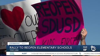 Parents, students rally to reopen San Diego elementary schools