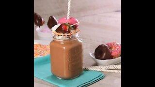 Chocolate Milkshake with Donuts