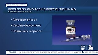 Discussion on vaccine distribution in MD