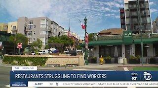 San Diego restaurants struggling to hire