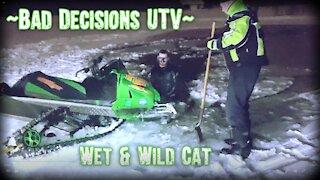 Snow Mobile Fail- Thin Ice Rescue
