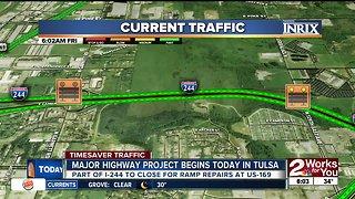 Major highway project begins today in Tulsa