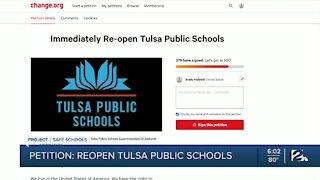 Petition calls to reopen Tulsa Public Schools