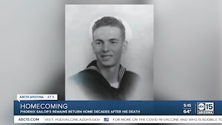 Phoenix sailor returns home nearly 80 years after attack on Pearl Harbor