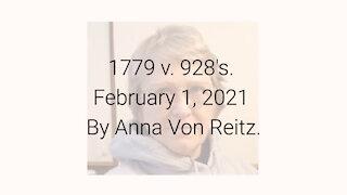 1779 v. 928's February 1, 2021 By Anna Von Reitz