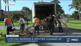 Lee deputies helping with debris removal in Cape Coral