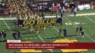 Michigan to resume limited workouts
