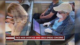 Face mask shortage amid virus spread concerns