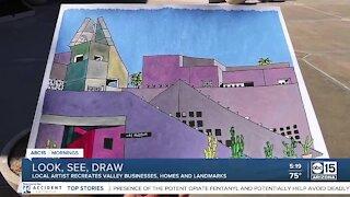 Local artist finds success drawing Arizona landmarks