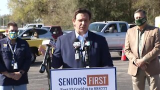 Governor DeSantis holds a press conference in Lake City