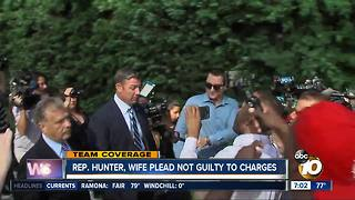Hunter, wife plead not guilty to federal charges