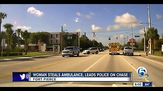 Dash cam footage released of police chasing stolen ambulance