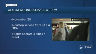 Alaska Airlines will soon begin service at RSW