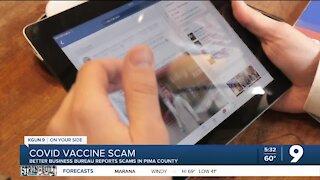 Better Business Bureau reports scams involving COVID-19 vaccine in Pima County