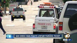 San Diego man fights parking ticket
