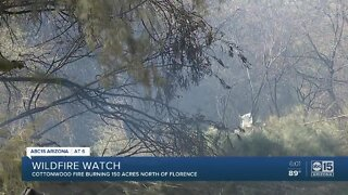 Crews battling 'Cottonwood Fire' burning in Pinal County