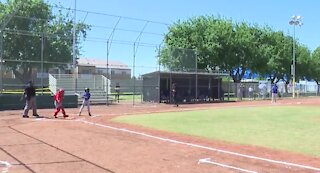 Opening day of Las Vegas Little League