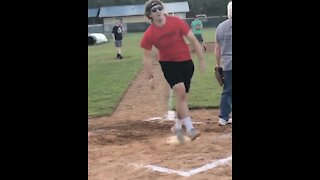 """""""Sniper"""" takes out guy crossing home plate"""