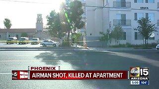 Airman shot, killed at apartment in Phoenix