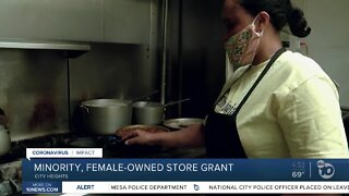 Minority, female-owned store grant