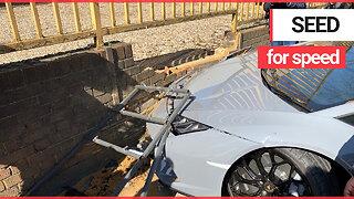 Stupid driver crashes £250K Lamborghini