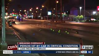Woman struck by car near Lake Mead and Bruce