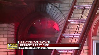 Two hurt in house fire on Detroit's east side