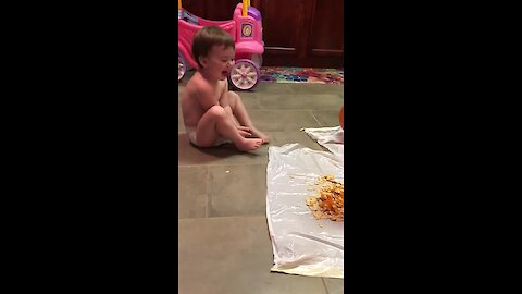 Toddler literally gags at anything gross