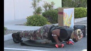 Sgt. Pushup visits Three Square food bank