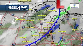 Cold front moves through Tuesday evening